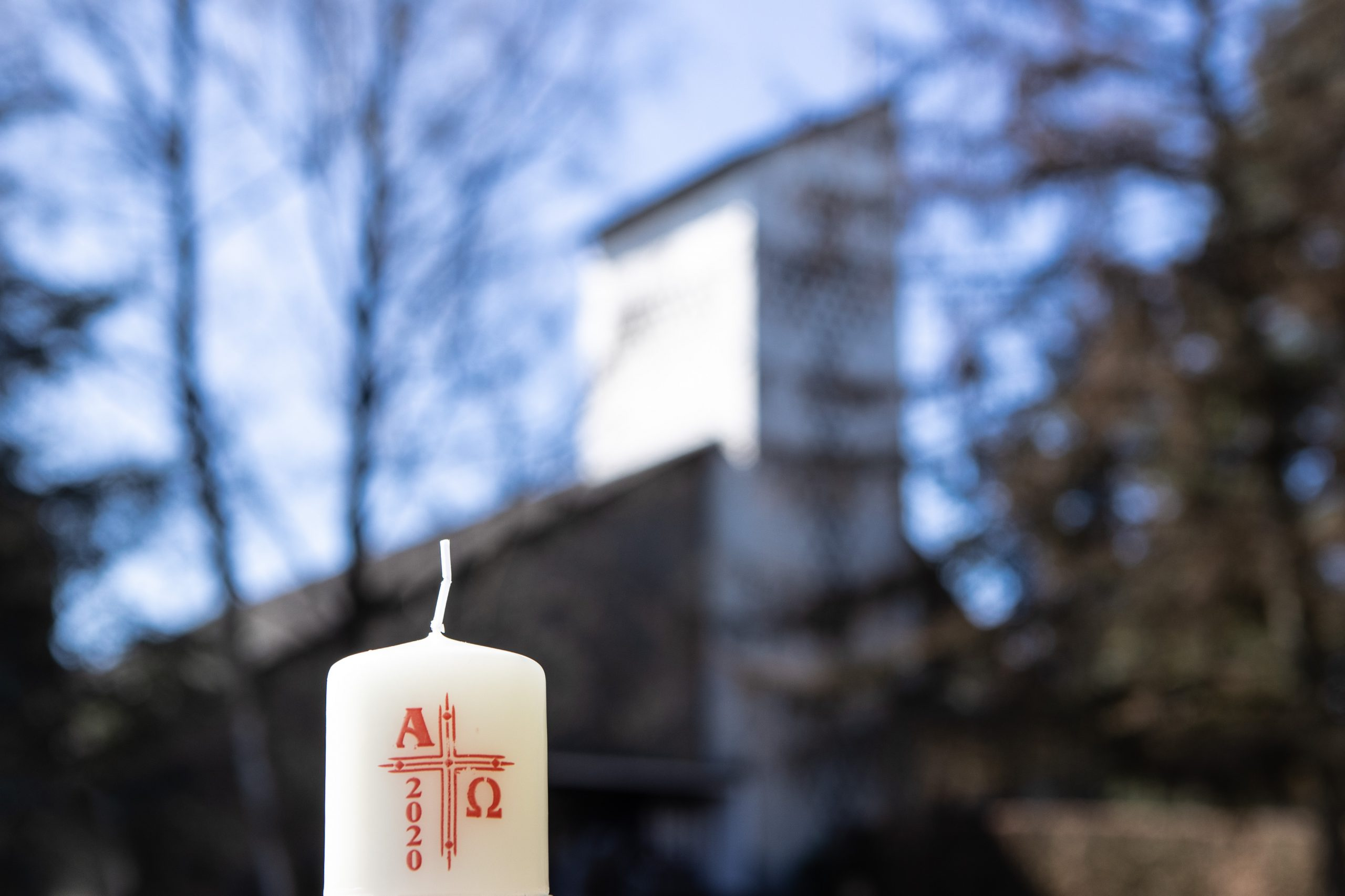 Osterkerzen im Franziskanerkloster